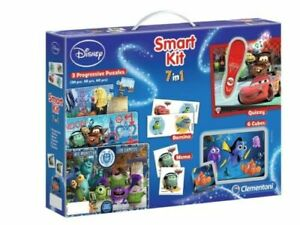 Disney Smart Kit 7 in 1 Puzzle Domino Memo Quizzy Cubes Monsters Cars Nemo Game