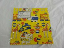 Vintage 1970's 80's Circus Theme Baby Shower or Birthday Party Gift Wrap Unused