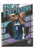 Zion Williamson Rookie Card 2019-20 Donruss Great X-Pectations #7 Pelicans RC