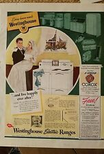 1940 Westinghouse electric range stove bridegroom live happily ever after ad