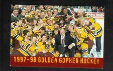 Minnesota Golden Gophers-1997-98 Hockey Pocket Schedule-Reliastar