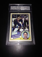 Dave Andreychuk Signed 1984-85 O-Pee-Chee OPC Rookie Card PSA Slabbed #83851075