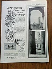 1944 U S Keds Shoes Ad  Out of America's Sports Come Future Champions Baseball