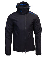 Superdry Mens New Tech Hood Pop Zip Windcheater Triple Zip Jacket Coat Black