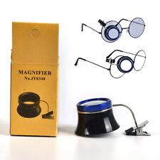 Clip-On Augenlupe Brillenlupe Lupe Uhrmacher reparieren auc  VZ