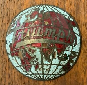 Vintage Original Triumph Enamel Car Badge