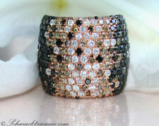 Nobelklasse: sóli negro blanco marrón brillante anillo 4.44 CT rg585 10920 €