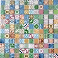 Küchenfliese bunt Retro Vintage Mosaik Fliesenspiegel  18D-1616_f    10 Matten