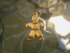 LOVE THIS CHARM FOR THE HOLIDAY 4 HIS & HERS Gold Plated GINGERBREAD CHARMS NEW.