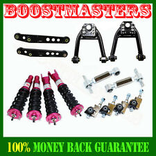 96-00 Civic Adjustable Coilover Suspension+Control Arm+Upper Arm+Camber Kits