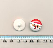 CHRISTMAS SANTA / FATHER CHRISTMAS BUTTON - 18mm - on a shank - XMAS