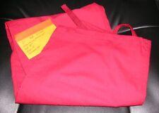Scrub Pants Unisex 1 Pocket Red DrawString Waist Scrub Pants L
