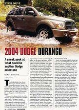 2004 Dodge Durango Original Car Review Print Article J530