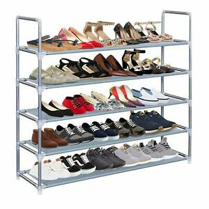 5 Tier Shoe Rack Extendable & Stackable Organiser for 25 Pairs Shoes Waterproof