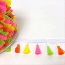 Neon Tassel Fringe Trim - 20mm Tassle - 38mm Drop - Bright Trim Summer Crafts