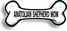 "Dog Mom Anatolian Shepherd Bone Car Magnet Bumper Sticker 3""x7"""