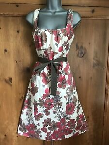 Coast Pink Cream Floral Dress Size 14 Wedding Occasion Party Races Cocktail