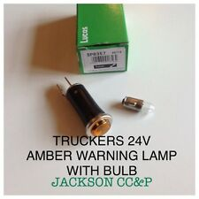TRUCKERS LUCAS 24V AMBER WARNING LAMP WITH BULB FITTED AND TESTED