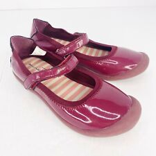 Hanna Andersson Girls Youth Size 4 Purple Patent Mary Jane Shoes