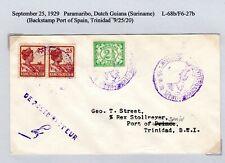 Lindbergh Flight Parimaribo Suriname to Port of Spain Trinidad 1929 F6-27b