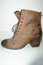 Office Not Much Used Brown Leather  Ankle Boots 6.5 / 40