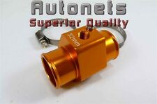 "Anodized Aluminum Water Temperature Sensor Radiator Hose Gauge Adapter 1.25"""