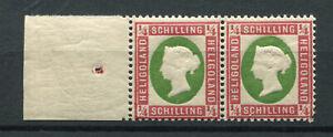 Helgoland Nr. 8 postfrisches Seitenrandpärchen signiert HK b. lesen .....2/12695