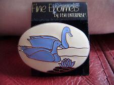 Lovely enamelled duck brooch