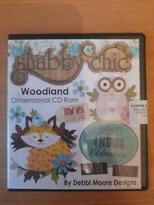 BNIP Debbi Moore cd rom. Shabby Chic Woodland