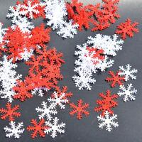 100pcs Classic Snowflake Ornaments Christmas Xmas Tree Holiday Party Home Decor