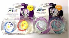 4 Avent Orthodontic Dynamic Dummy Pacifier Slicone  Soother 0-6/6-18 m 2x2 pack