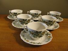 "Set of 6 Cups & 6 Saucers Ridgway ""Spring Garden"" Staffordshire, England EUC"