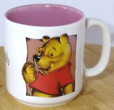 Winnie The Phooh Coffee Mug Disney Pooh Light Baige two tone fade Pink Inside