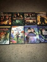 🔥LOT OF 8 DISNEY DVD'S Pirates 1 2 3 Nat Treasure Narnia Alice Bridge Haunted🎞