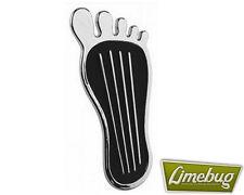 """Grandes de 9 """"Barefoot Pedal Pad Metal Cromado Bolt en Universal Escarabajo Vw Camper Bus"""