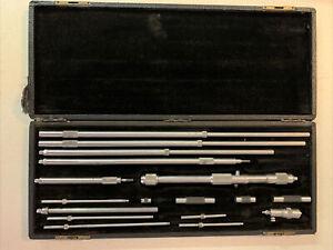 """Starrett Inside Micrometer Set 1-32"""" Small & Large Mics Machinist Tool USA"""