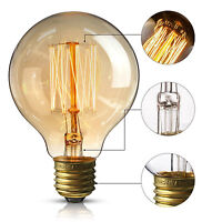 G95 E27 60W Dimmable Edison Bulb Vintage Lighting Antique Retro Filament Bulb UK