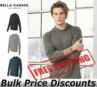 Bella + Canvas Unisex Blank Long Sleeve Jersey Hooded Tee T Shirts 3512 upto 2XL