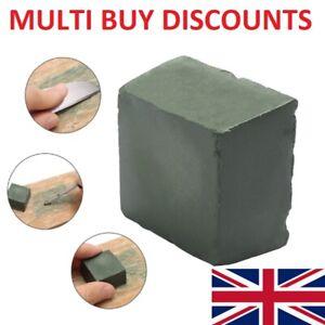 Leather Strop Sharpening Honing Compound Polishing Buffing Green 3xm x 3cm UK