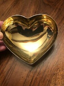 Michael Aram Heart Dish Gold And Silver - With Care Instructions