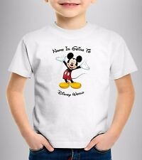 Personalised Mickey Mouse T-shirts YOUR NAME IS GOING TO DISNEY Holiday Vacation