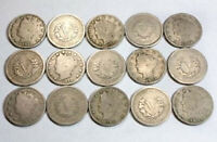 Collection of 15 Liberty Head V-nickels