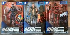 GI Joe Classified Wave 2 Complete 3 figure set Corba Commander Gung Ho Red Ninja
