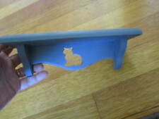 """Shelf with Cat Silhouette Small Decorative Cut Out 8 x 2.5"""" Wood Free Ship"""
