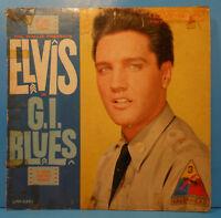 ELVIS PRESLEY G. I. BLUES LP 1960 MONO ORIGINAL PRESS NICE CONDITION! G+/G+!!A