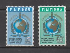 Philippine Stamps 1973 Interpol 50th Anniversary Complete set MNH