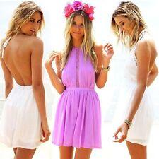 Unbranded Halterneck Summer/Beach Sundresses for Women