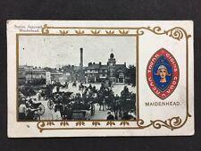 Vintage RPPC: Berkshire: #T92: Station Approach, Maidenhead: Heraldic: 1915