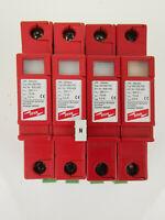 4x Dehn VM 280 FM VM-Ableiter 900420 mit Meldekontakt