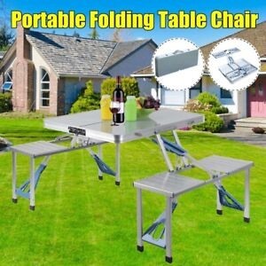 Durable Outdoor Folding Camping Aluminum Alloy Picnic Waterproof Table Chair